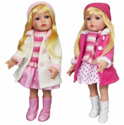 46cm Fashion Girl Doll Long Hair Modern Outfit Fasion Clothes Poseable Limbs