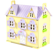 Berrybee Cottage Wooden Dolls House with Complete Sweetbee Furniture Set