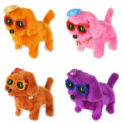 Meiqils 1pcs Walking Westie,Barking and Light Dog Toy Christmas Gift(Random Colour)