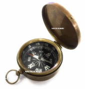 6.4cm Antique Brass Compass by NauticalMart
