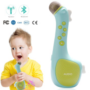 Kids Microphone Karaoke, Portable Bluetooth Speaker for Music Playing Singing Anytime