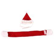 Demiawaking 2Pcs Christmas Pet Cat Dog Santa Hat Scarf Xmas Pet Puppy Dogs Costumes Red