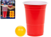 24Pc Beer Pong Set 12 Cups & 12 Balls Tournament Kit Adults Drinking Game Set