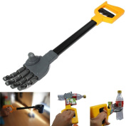 CDELEC 1PC Plastic Grab Claw Hand Grabber Grabbing Stick Kid Boy Toy Move And Robot Things DIY Robot gift kids novelty Toy
