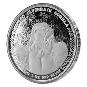 2017 Congo Silverback Gorilla Silver Coin 30ml Collectible Silver Coin