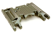 Integy RC Model Hop-ups OBM-1330GUN CNC Machined Alloy Centre Skid Plate for Axial 1/10 SCX10 II w/LCG Transfer Case