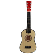 TOOGOO(R) 60cm Guitar Mini Guitar Basswood Kid's Musical Toy Acoustic Stringed Instrument with Plectrum 1st String Natural Colour
