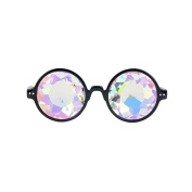 Rcool Kaleidoscope Glasses Rave Festival Party EDM Sunglasses Rainbow Prism Refraction Diffracted Lens Multicolor Light Show Glasses Goggles