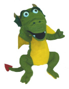 """Dragon puppet with squeaker 16""""/40.5cm ventriloquist, play, tell stories, educational. ."""