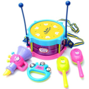 Kids Toys, Education Toy, Musical Toys,5Pcs Funny Kids Baby Roll Drum Musical Instruments Band Kit Children Toy