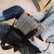 Female Style Piano Small Square Bag Fashion Shoulder Bag All Match Fashion Shoulder Bag Wide Shoulder Strap , black