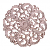 Decal Carving,Round Onlay Applique Wooden Wood Carving Decal Furniture Wall Corner Decor