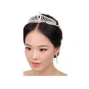 Lalang Wedding Bridal Princess Crystal Rhinestone Prom Hair Tiara Crown