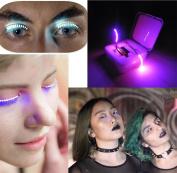 XXYsm LED Eyelashes Eyelid False Eyelashes For Fashion Icon Saloon Pub Club Bar Party