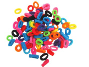 Approx. 200 Pcs Cute Mini Colourful Kids Baby Girl Hair Bobbles Bands Elastic Stretchy Ponytail Holder Hairband Hair Accessaries