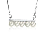 Uniqstore Cute White Beads Pendant Necklace Sweater Chain