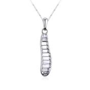 Uniqstore Pea Pods Crystal Clear Fashion Creative Silver Necklace