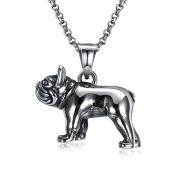 Uniqstore Animal Puppy Ancient Silver Retro Necklace Unisex