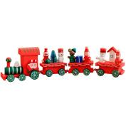 Meliya Children Small Wooden Train Toys Christmas Ornaments Decoration Kids Kindergarten Festive Gift