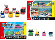 Tayo The Little Bus Tayo Friends Special Mini 10 Pcs Toy Set (Max, Poco, Heart, Bongbong + Citu, Alice, Nuri, Pat, Toto, Frank) + Superdaddy Highlighter