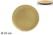 Due Esse Christmas DSC Underplate Plastic Smooth Gold Diameter 33 cm