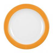 Seltmann Weiden VIP, Breakfast Plate with Flag, Dish, Porcelain, Orange, 20 cm, 1226677