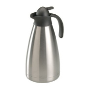 axentia axentia Stainless Steel, Double Walled Thermal Coffee Carafe with Vacuum Sealed Insulation and Automatic Pouring - Insulated Coffee Jug 2L, Stainless Steel, Silver, , 16.5 x 14 x 29.5 cm