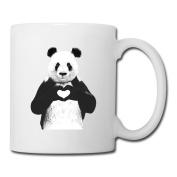 BEDOO Pabda I Love You Coffee Cups White