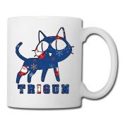 BEDOO Trigun Cat Coffee Cups White