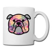 BEDOO Bull Dog Coffee Cups White