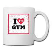 BEDOO I Love Gym Coffee Cups White
