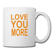 BEDOO I Love You More Coffee Cups White