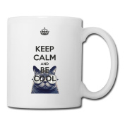 BEDOO Keep Calm And Be Cool Coffee Cups White