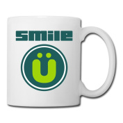 BEDOO Smile Design Coffee Cups White