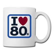 BEDOO I Love 80s Coffee Cups White