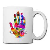 BEDOO Keep Calm And Be Creative Coffee Cups White