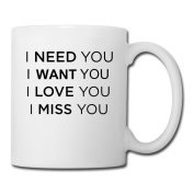 BEDOO Want You Coffee Cups White