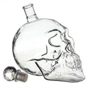 Flyyfree Schaedel Crystal Skull Shot Glass Vodka Bottle 500 ml