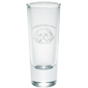 I Shih Tzu Not Funny Etched Shot Glass Shooter Clear Glass Standard One Size