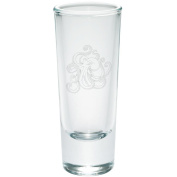 Octopus Tattoo Etched Shot Glass Shooter Clear Glass Standard One Size