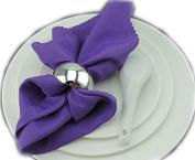 Yalulu 12pcs Silver Napkin Ring Napkin Buckle Napkin Holder for Wedding Party Hotel Dining Table Decoration