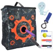 Target Pouch Storage Practise Carry Bag with 2PCS Hooks for Nerf N-strike Elite / Mega / Rival Series Blaster