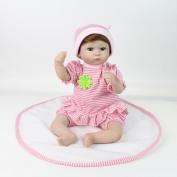 Samber Handmade Soft Silicone Newborn Dolls Lifelike Reborn Baby Doll Rubber Artificial Doll Soft Body Toy Accompany Sleeping Doll Festival Birthday Gifts For Kids Girls Boys