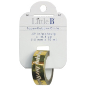 Little B Happy Birthday 100633 Decorative Foil Tape, Gold