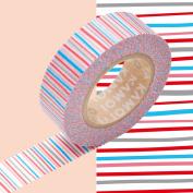MT Kamoi Kakoshi kmmt-mkt1pd-bd Base Japanese Mask Paper Adhesive Tape Vegetable Fibres 1,000 x 1.5 cm Red