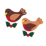 12pcs Felt Christmas Robin Shapes For Crafts Festive Applique Christmas Craft UK