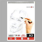 A3 Sketch Pad Drawing L Ivory Artist Paper on Spiral Book -50 sheets - 100 pages