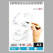A3 Sketch Pad White Drawing Artist Paper on Spiral Book - 50 sheets - 100 pages