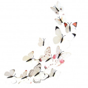 Wall Stickers, KEERADS 12 Pieces 3D Butterfly Stickrs Fashion Art Design DIY Wall Decoration House Decoration Babyroom Decoration