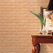Wall Stickers, KEERADS 3D Brick Wallpaper Brick Pattern Wall Stickers Soundproofing Wallpaper for Living Rooom Bedroom
